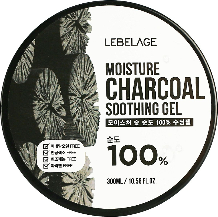 Moisturizing Coal Gel - Lebelage Moisture Charcoal 100% Soothing Gel — photo N1