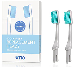 Fragrances, Perfumes, Cosmetics Brush Heads for Toothbrush, soft, grey - TIO Toothbrush Soft