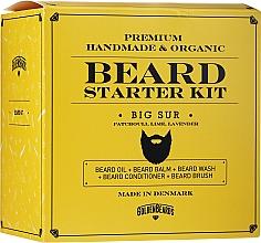 Fragrances, Perfumes, Cosmetics Set - Golden Beards Starter Beard Kit Big Sur (balm/60ml + oil/30ml + shm/100ml + cond/100ml + brush)