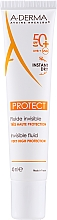 Fragrances, Perfumes, Cosmetics Sun Fluid SPF 50+ - A-Derma Protect Invisible Fluid Very High Protection