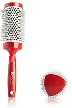 Fragrances, Perfumes, Cosmetics Thermal Brush 43 mm - Upgrade Triangular Concave Thermal Brush Red Angle