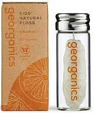 Fragrances, Perfumes, Cosmetics Dental Floss, 30 m - Georganics Natural Sweet Orange Dental Floss