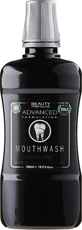 "Mouthwash ""Charcoal"" - Beauty Formulas Advanced Charcoal Mouthwash"