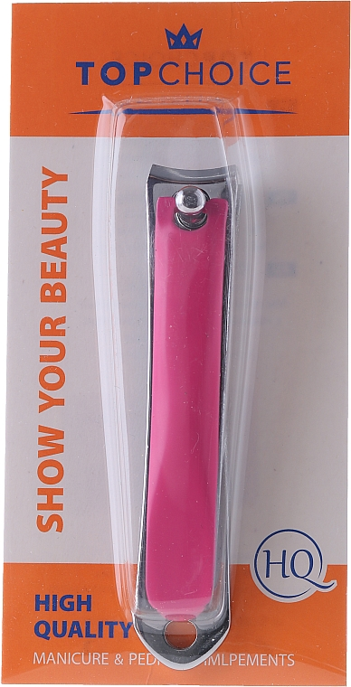 Nail Clipper 77630, L, pink - Top Choice Colours Nail Clippers