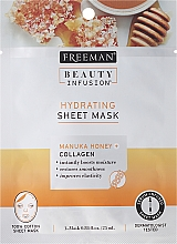 Fragrances, Perfumes, Cosmetics Face Sheet Mask - Freeman Beauty Infusion Hydrating Cream Mask Manuka Honey + Collagen