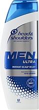 Fragrances, Perfumes, Cosmetics Anti-Dandruff Shampoo - Head & Shoulders Men Ultra Instant Scalp Relief