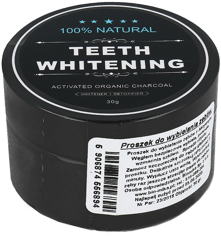 Whitening Activated Carbon Tooth Powder - Biomika Natural Teeth Powder
