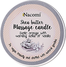 "Fragrances, Perfumes, Cosmetics Shea Butter Candle ""Orange and Vanilla"" - Nacomi Shea Butter Massage Candle"