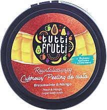 "Fragrances, Perfumes, Cosmetics Body Sugar Peeling ""Peach & Mango"" - Farmona Tutti Frutti Sugar Scrub"