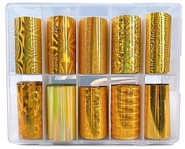 Fragrances, Perfumes, Cosmetics Transfer Foil Set - Deni Carte Gold Holo