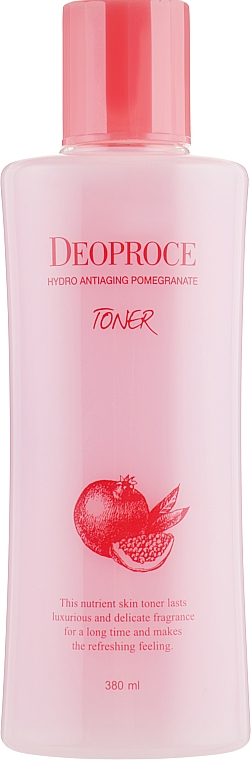 Anti-Aging Pomegranate & Hyaluronic Acid Toner - Deoproce Hydro Antiaging Pomegranate Toner