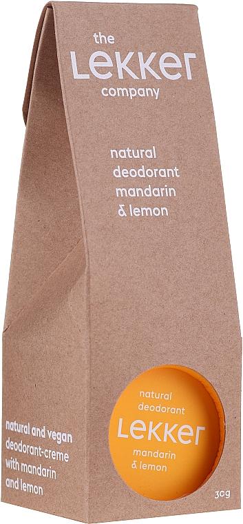 Mandarin & Lemon Deodorant Cream - The Lekker Company Natural Deodorant Mandarin & Lemon