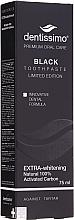 "Fragrances, Perfumes, Cosmetics Toothpaste ""Natural Whitening"" - Dentissimo Extra Whitening Black"