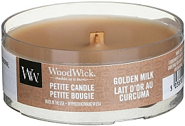 Fragrances, Perfumes, Cosmetics Scented Candle in Glass - WoodWick Petite Candle Golden Milk