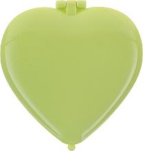 "Fragrances, Perfumes, Cosmetics Compact Mirror ""Heart"" 85550, green - Top Choice Colours Mirror"