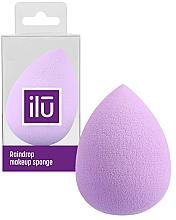 Fragrances, Perfumes, Cosmetics Teardrop Makeup Sponge, purple - Ilu Sponge Raindrop Purple