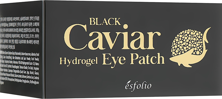 Hydrogel Black Caviar Eye Patches - Esfolio Black Caviar Hydrogel Eye Patch — photo N3