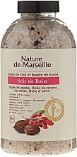 Fragrances, Perfumes, Cosmetics Bath Salt with Goji Berries and Shea Butter Flavor - Nature de Marseille