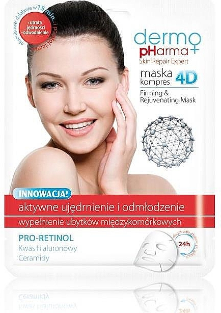 Face Mask - Dermo Pharma Skin Repair Expert Firming Rejuvenating Mask 4D