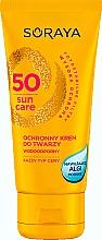 Fragrances, Perfumes, Cosmetics Moisturizing & Sun Protective Face Cream - Soraya Sun Care Waterproof Face Cream SPF50