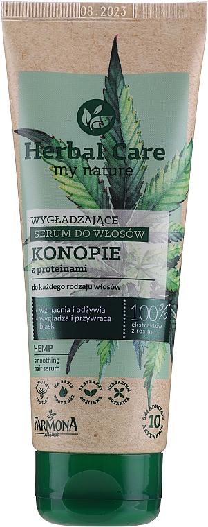 Smoothing Hair Serum - Farmona Herbal Care Smoothing Hair Serum with Hemp Oil and Protein