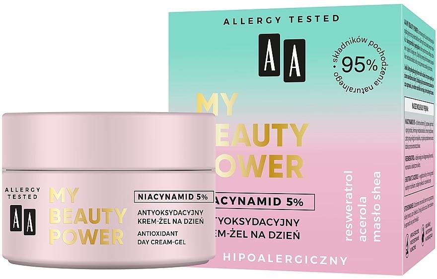 Antioxidant Day Face Cream-Gel - AA My Beauty Power Niacynamid 5% Antioxidant Day Cream-Gel — photo N1