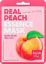 Fragrances, Perfumes, Cosmetics Sheet Mask with Peach Extract - FarmStay Real Peach Essence Mask