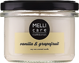 "Fragrances, Perfumes, Cosmetics Scented candle ""Vanilla and Grapefruit"" - Melli Care Vanilla & Grapefruit Soy Wax Scented Candle"