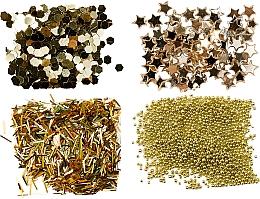 Fragrances, Perfumes, Cosmetics Glitter Set, gold - Peggy Sage Nail Glitter Mini Kit Or