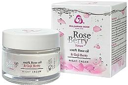 Fragrances, Perfumes, Cosmetics Night Face Cream - Bulgarian Rose Rose Berry Nature Night Cream