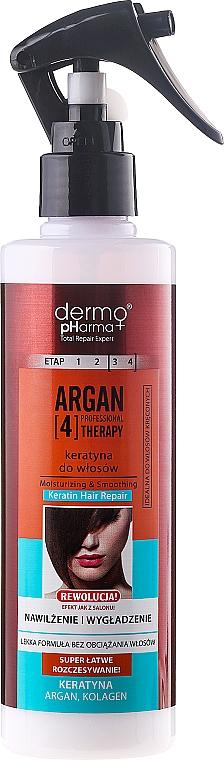 Keratin Hair Spray - Dermo Pharma Argan Professional 4 Therapy Moisturizing & Smoothing Keratin Hair Repair