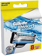 Fragrances, Perfumes, Cosmetics Replacement Shaving Cassettes, 8 pcs - Gillette Mach3 Start
