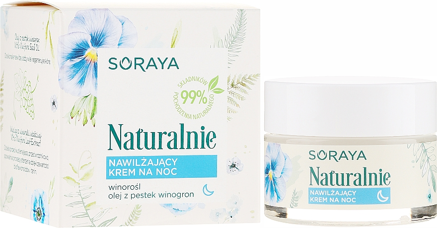 Moisturizing Face Cream - Soraya Naturalnie Night Cream
