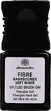 Fragrances, Perfumes, Cosmetics Fiberglass Hard Gel - Alessandro International Fiber UV/LED Brush On Fiberglass Hard Gel (Soft White )