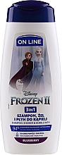Fragrances, Perfumes, Cosmetics 3-in-1 Shower Gel-Shampoo - On Line Kids Disney Frozen