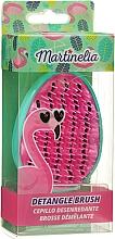 "Fragrances, Perfumes, Cosmetics Hair Brush ""Detangle"", turquoise-pink - Martinelia"
