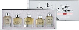 Fragrances, Perfumes, Cosmetics Charrier Parfums Secrets De Parfums - Set (edp/9.9ml+edp/10.5ml+edp/9.9ml+edp/9.9ml+edp/9.8ml)