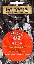 Fragrances, Perfumes, Cosmetics Charcoal Peel-Off Mask - Perfecta Express Mask Peel-Off Detox