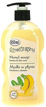 Banana & Aloe Vera Liquid Hand Soap - Bluxcosmetics Naturaphy Hand Soap