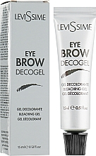 Fragrances, Perfumes, Cosmetics Bleaching Brow Gel - LeviSsime Eye Brow Decogel