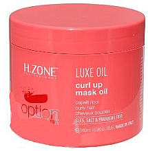 Fragrances, Perfumes, Cosmetics Hair Color Preserving Oil - H.Zone Luxe Oil Curl Up Mask Oil