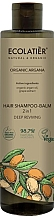 Fragrances, Perfumes, Cosmetics 2-in-1 Hair Balm-Shampoo - Ecolatier Organic Argana Hair-Shampoo Balm