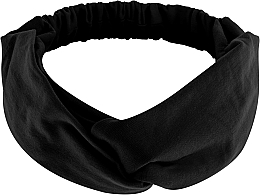 "Fragrances, Perfumes, Cosmetics Headband, jersey binding, black ""Knit Twist"" - MakeUp Hair Accessories"