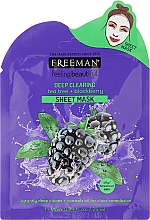 "Fragrances, Perfumes, Cosmetics Sheet Mask ""Tea Tree and Blackberry"" - Freeman Sheet Mask"