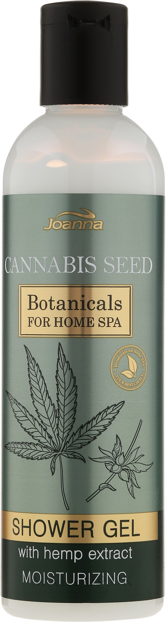 Moisturizing Shower Gel - Joanna Botanicals For Home Spa Cannabis Seed Shower Gel — photo 240 ml