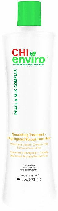 Smoothing & Repair Treatment for Highlighted, Porous & Fine Hair - CHI Enviro American Smoothing Treatment