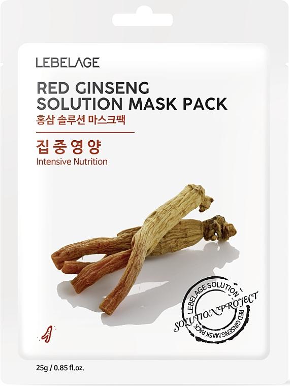 Facial Sheet Mask - Lebelage Red Ginseng Solution Mask