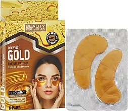 Fragrances, Perfumes, Cosmetics Eye Gel Patches - Beauty Formulas Reviving Gold Eye Gel Patches