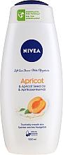 "Fragrances, Perfumes, Cosmetics Shower Care Gel ""Apricot"" - Nivea Bath Care Shower Care&Apricot Seed Oil"