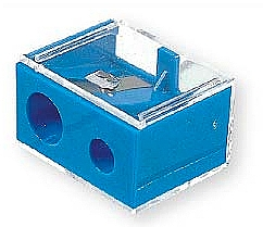 Fragrances, Perfumes, Cosmetics Double Pencil Sharpener with Cap, 2182, blue - Top Choice